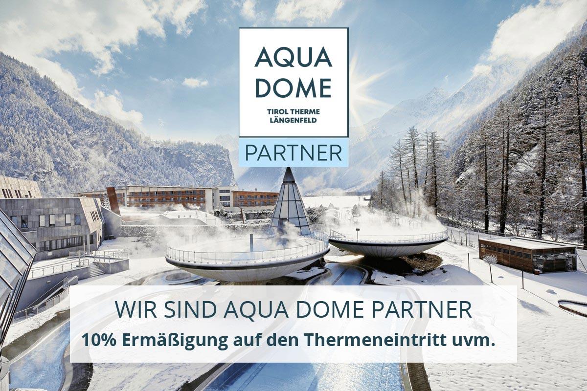 Wir sind Aqua Dome Partner