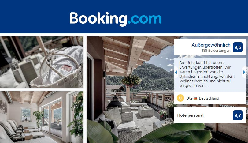[Translate to Englisch:] Außergewöhnlich auf booking.com